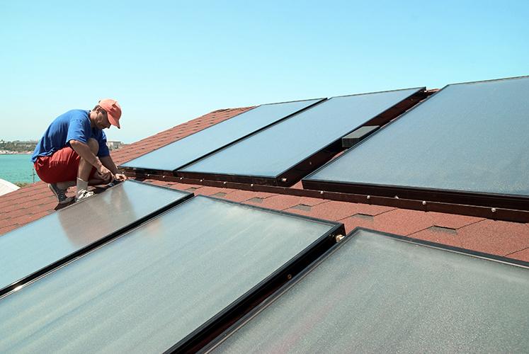 Kymar Elektro kan bistå med installasjon av løsninger forfornybar energi, som f.eks solscellepaneler